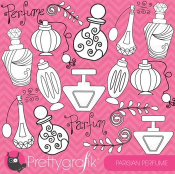 Paris perfume stamps commercial use, vector graphics, images - DS308