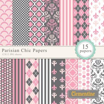 Parisian Chic Digital Papers