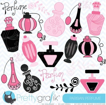 Parisian perfume clipart commercial use, vector graphics - CL308