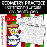Partitioning Circles and Rectangles Worksheets