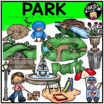 Park Clip Art Bundle {Educlips Clipart}