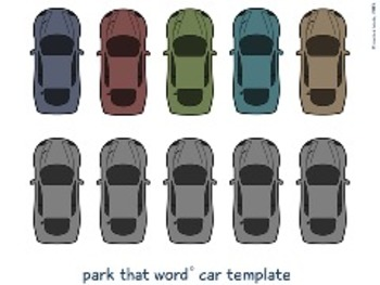 Park That Word© – A Word Parking Lot Game – Editable
