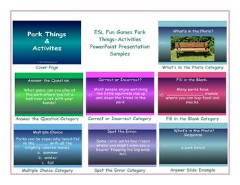 Park Things-Activities PowerPoint Presentation