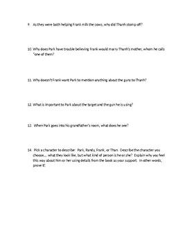 Park's Quest, Chapter 1-9 Quiz