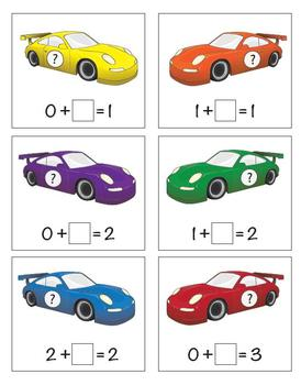 Park the Car - Missing Addends to 10