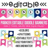 Parker Editable Doodle Banners