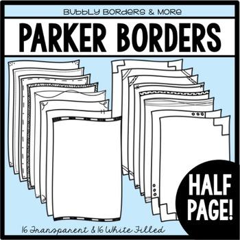 Borders- Parker Half Page Frames