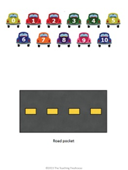 Parking Cars Dividing by 9 File Folder Game ~ Division Activity/Center
