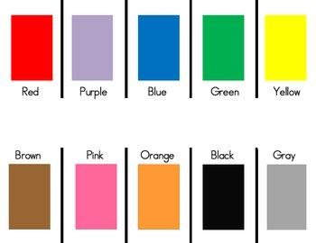 """""""Parking Lot"""" Colors Mat"""