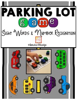 Parking Lot Game- Sight Word and Number Recognition Practice with Toy Cars!