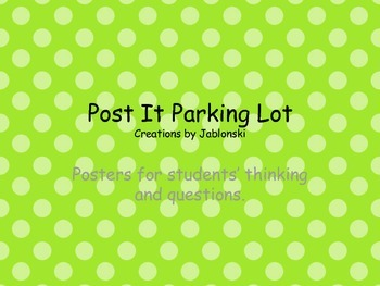 Parking Lot Posters