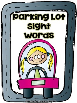 Parking Lot Practice - Sight Words
