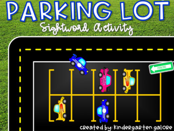 SIGHTWORD ACTIVITY - Parking Lot