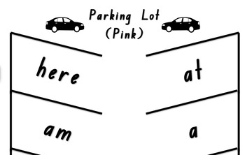 Parking Lot Sight Word Game - Pink Level PM Sight Words