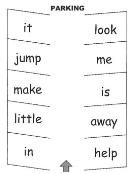 Parking Lot: Sight Words