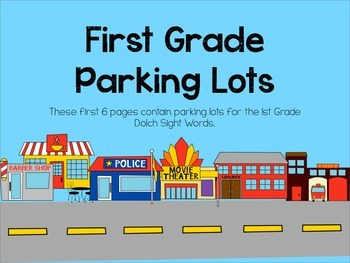 Parking Lot Sight Words with 1st, 2nd and 3rd Grade Dolch Sight Words