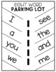 Parking Lot for Sight Words and Color Words and More! Editable!