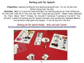Parking Lot for Speech:  Final T & D sounds