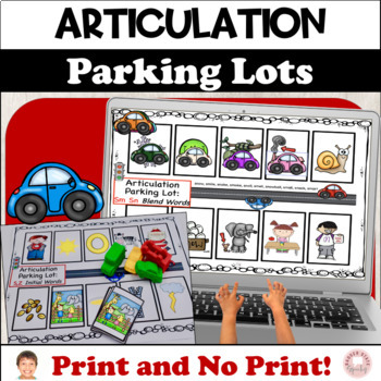 Articulation Parking Lots: Early Developing Sounds, Color and B&W