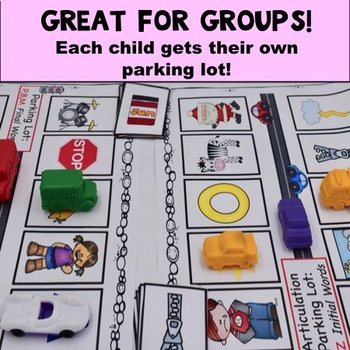 Speech Therapy Parking Lots Bundle: Early AND Late Sounds!