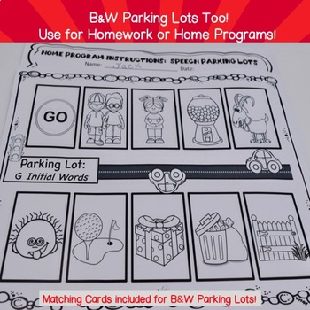 Parking Lots for Speech:  Later-developing Sounds! (for non-readers)