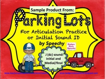 Parking Lots for J (dz) sounds:  Initial and Medial/final