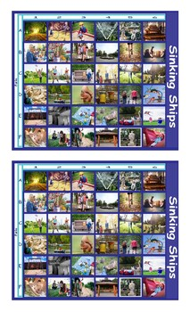 Park Things and Activities Legal Size Photo Battleship Game