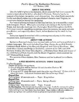 Park's Quest Literature Guide