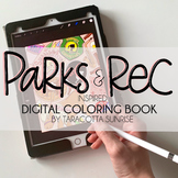 Parks and Recreation Inspired Coloring Pages by Taracotta Sunrise