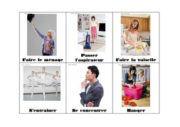 Parler des activités quotidiennes - daily routine in french (verbs)
