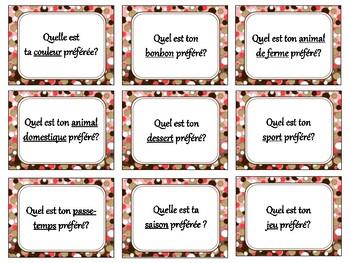 Parler des préférences, quiz quiz trade, fan & pick, speaking in French