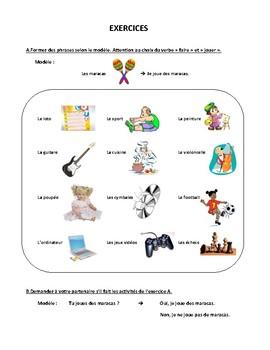 Parler des sports et des activités, faire et jouer, speaking in French