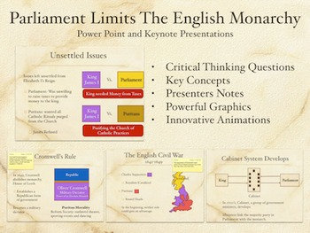 Parliament Limits The English Monarchy PowerPoint Keynote