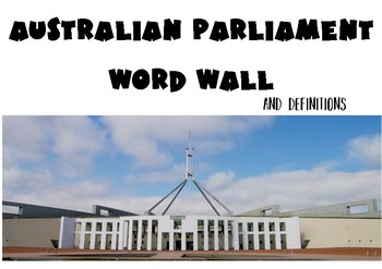 Parliament Word Wall and Definitions
