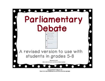 Parliamentary Debate for Grades 5-8