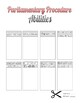 Parliamentary Procedure Abilities Interactive Notebook Foldable