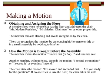Parlimentary Procedures/Managing Meetings