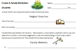 Parody - Create Your Own - Using Fairy Tales