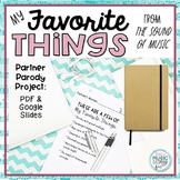 """Partner Parody Project - """"My Favorite Things"""" The Sound of Music, PDF & Google"""