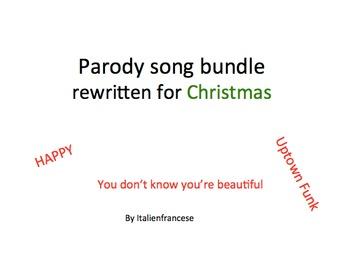 Parody songs bundle rewritten for Christmas