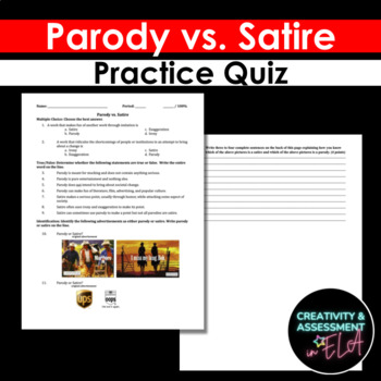 Parody vs. Satire quiz