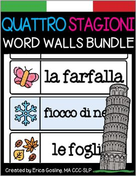Parole di Muro -  Quattro Stagioni - All 4 Seasons - Italian