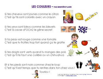French song - Chanson: Les couleurs
