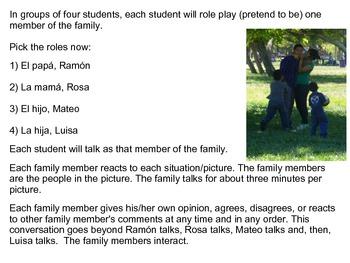 Parque Morelos y Mi Familia: A Role Playing Spanish Conversation