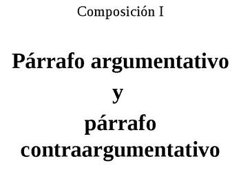 Párrafo argumentativo y párrafo contraargumentativo