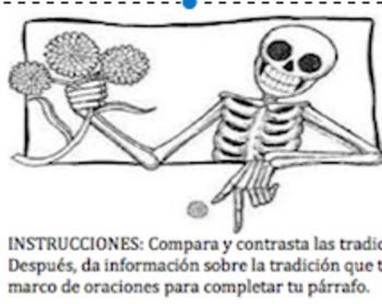 Párrafo comparativo Día de los Muertos y Halloween