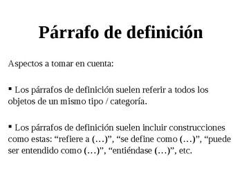 Párrafo de definición