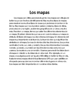 Párrafos para el puente de  Mapas, Tiempo y Erosión - Bridging Paragraphs