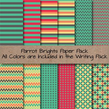 Parrot Brights Lined Writing Paper for Writers Workshop, Bulletins & More