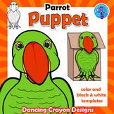 Parrot Craft Activity   Paper Bag Bird Puppet Templates